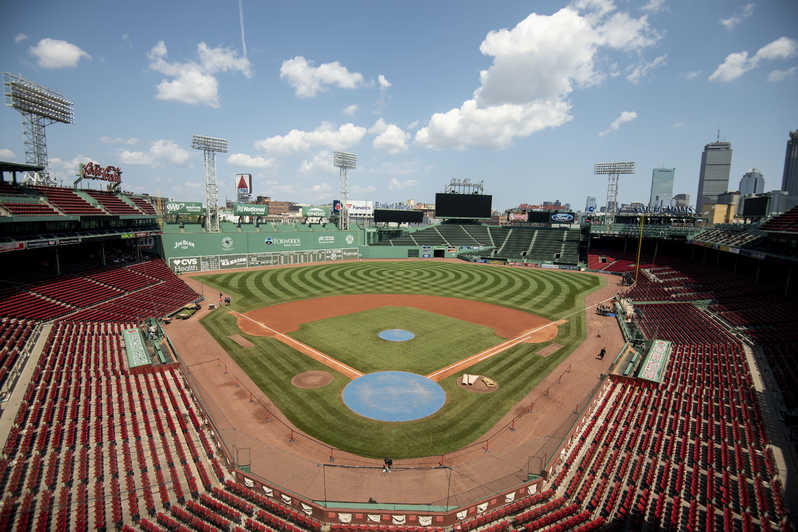 Overview of Fenway Park in Boston