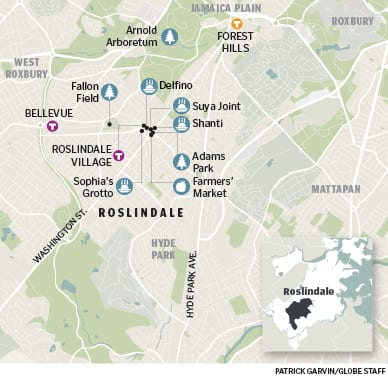 Map of Roslindale, MA