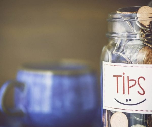 Coins in a Tip Jar