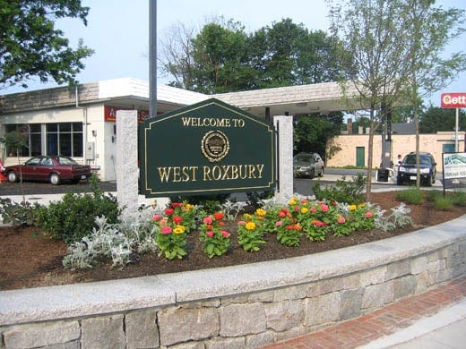 Welcome to West Roxbury Sign