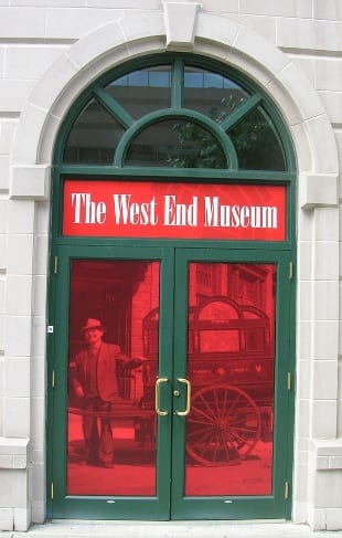The Front door of West End Museum