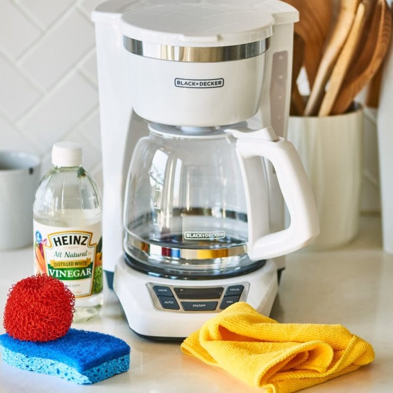 Coffee Maker with Cleaning Supplies